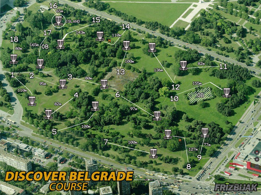Discover Belgrade Tournament - Map of course